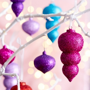 Shimmer and Shine Glittery Ornaments