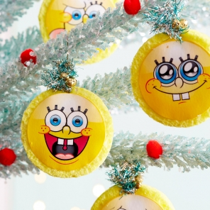 SpongeBob Sponge & Pineapple Ornaments