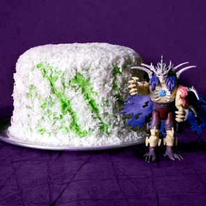 TMNT Super Shredded Snow Cake