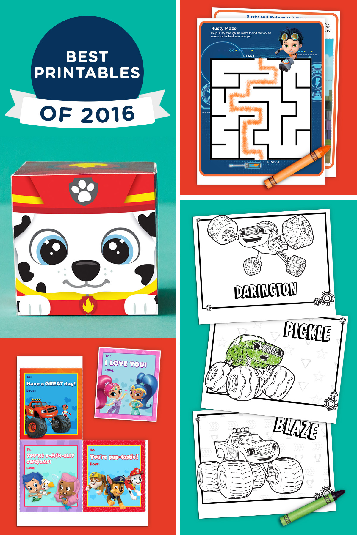 The Best Nick Jr. Printables of 2016