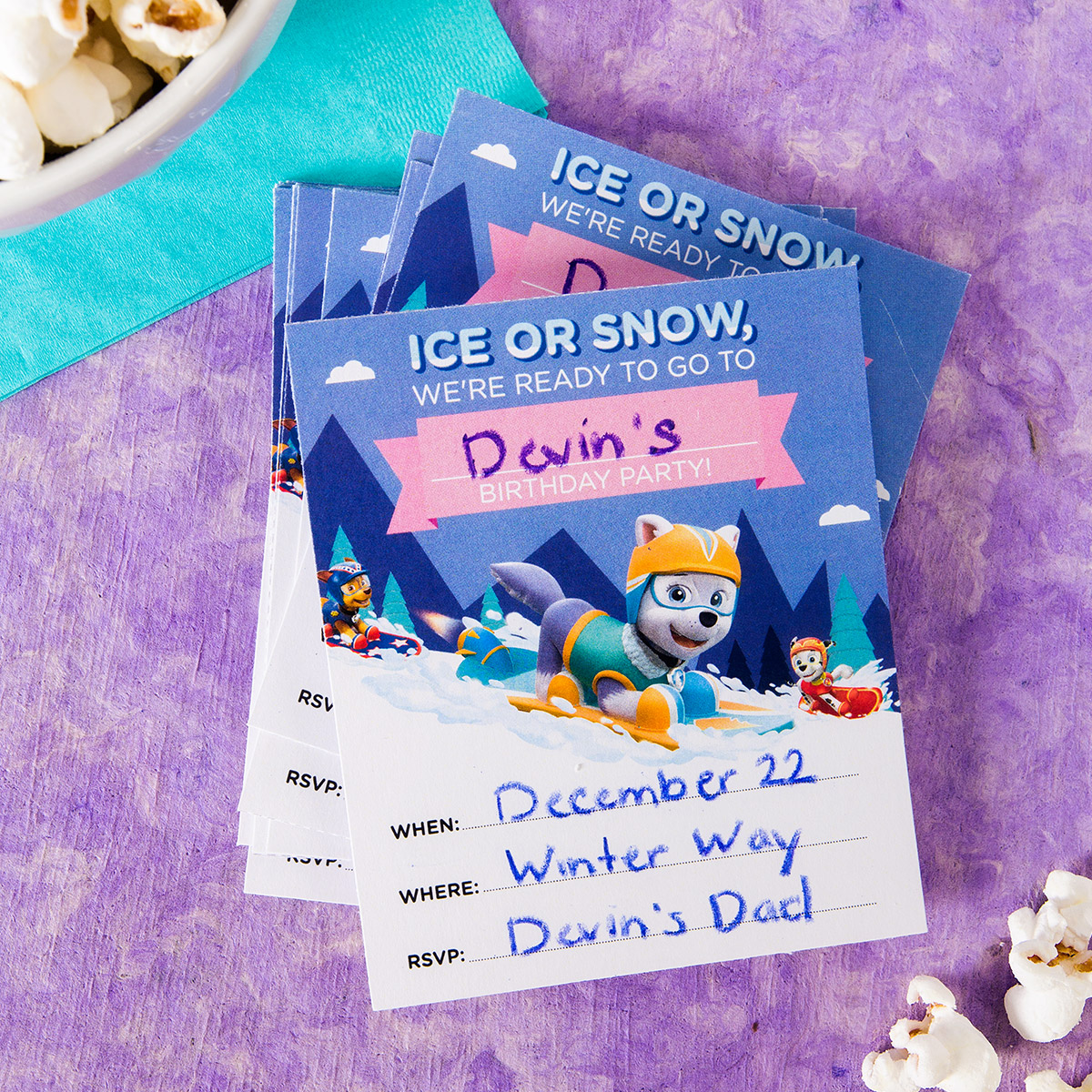 Everest Birthday Party Invitations