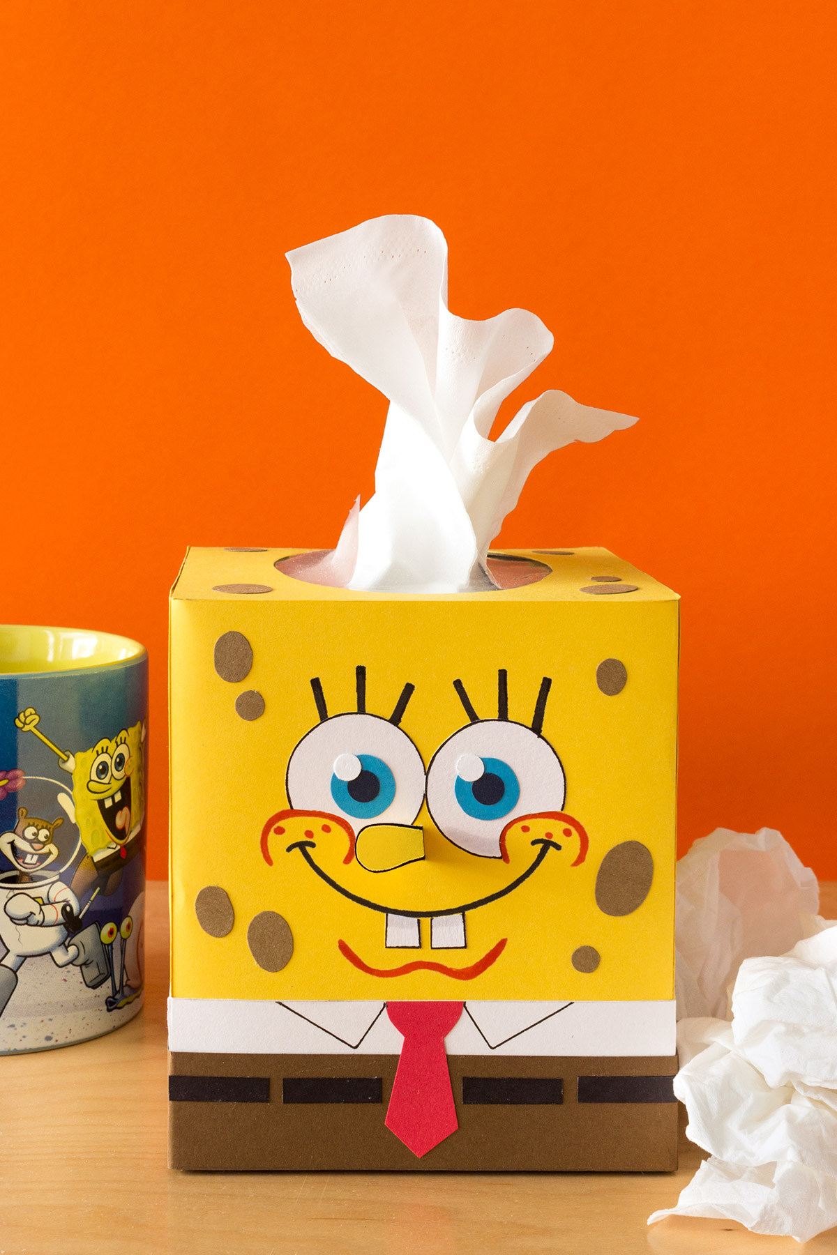 SpongeBob Winter Sniffles Tissue Box Craft