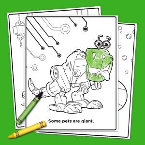 pets of nick jr coloring pack nickelodeon parents - Nick Jr Coloring Book
