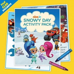 Fan Club Exclusive: Snowy Day Activity Pack
