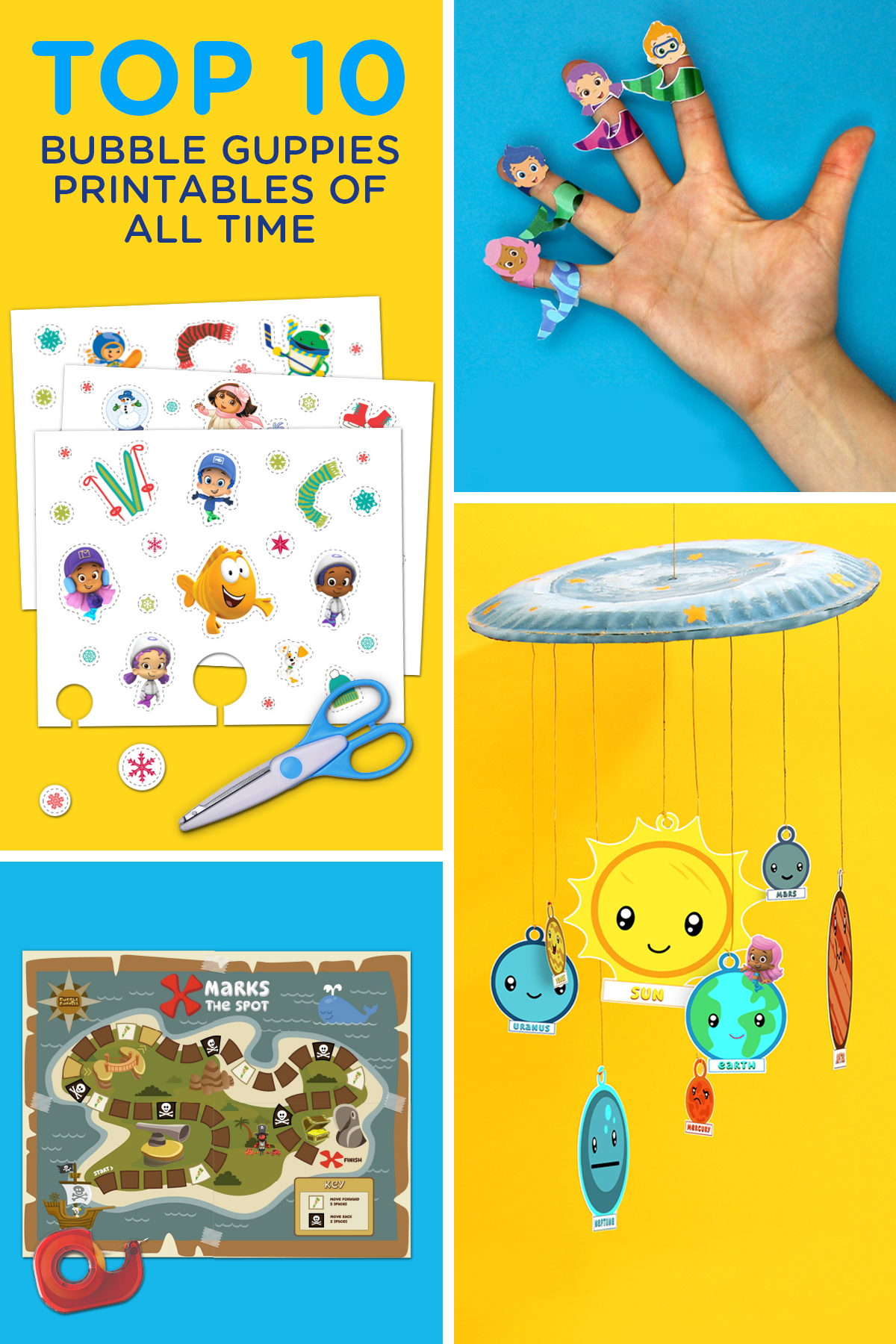 Bubble Guppies Top 10 Printables