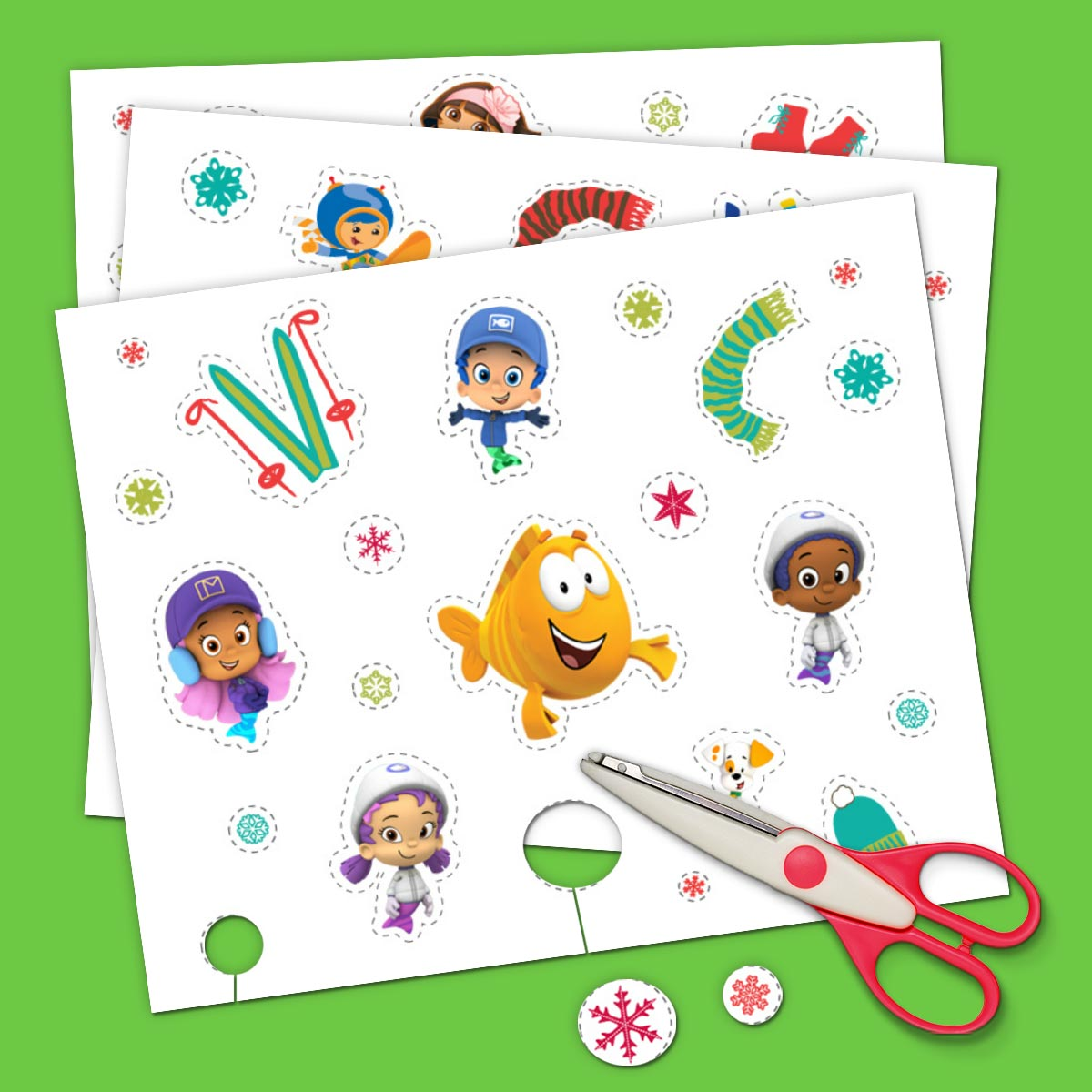 Nick Jr. holiday stickers