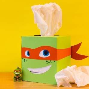 TMNT Mikey Tissue Box Craft
