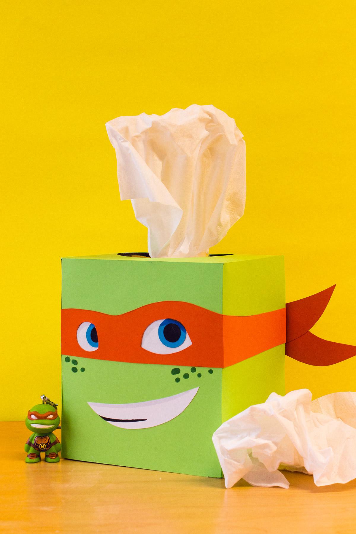 TMNT Mikey Tissue Box Craft
