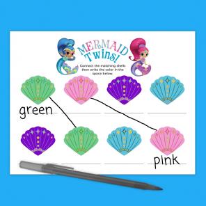 Shimmer and Shine Mermaid Activity Sheet