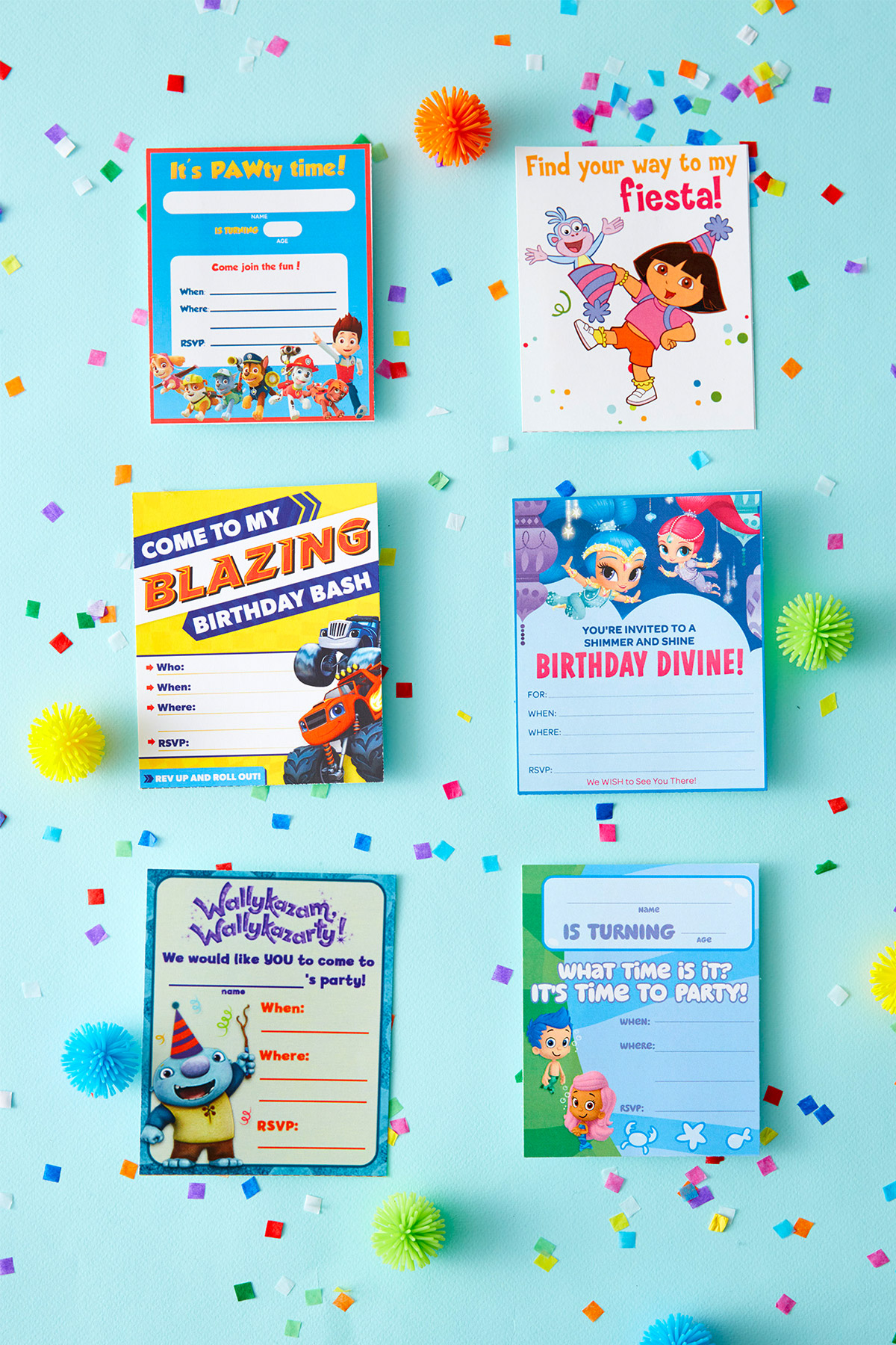 graphic regarding Printable Party Invite titled Nick Jr. Printable Birthday Get together Invites Nickelodeon