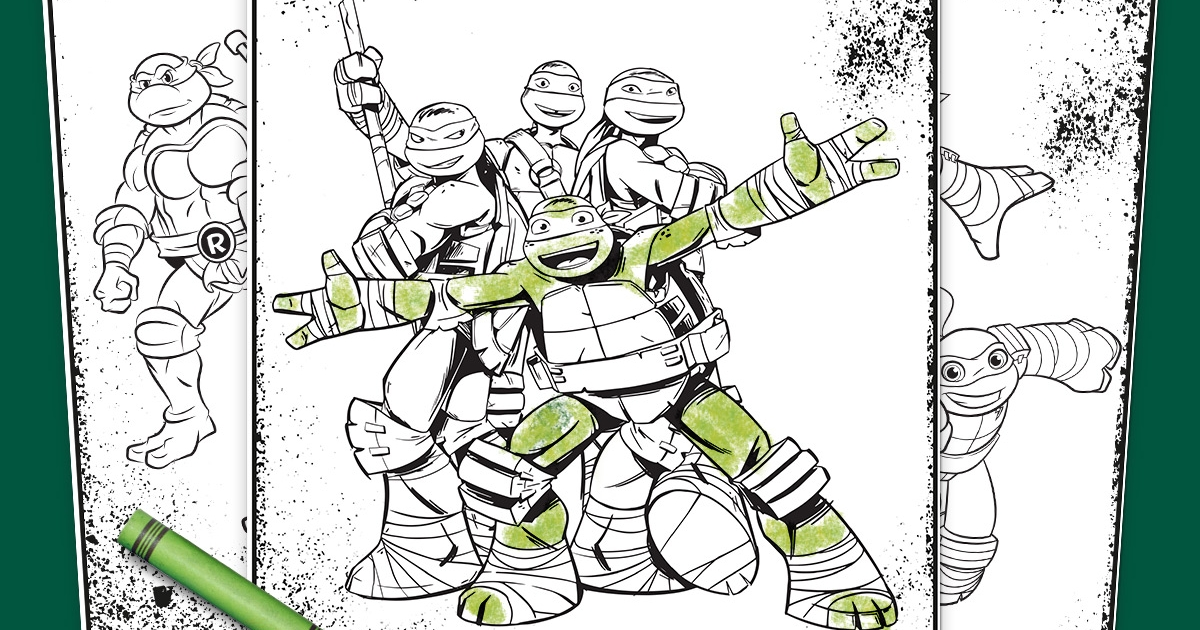 Tmnt coloring pages nickelodeon parents