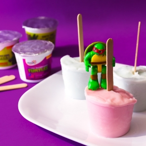 TMNT and SpongeBob Frozen Yogurt Pops
