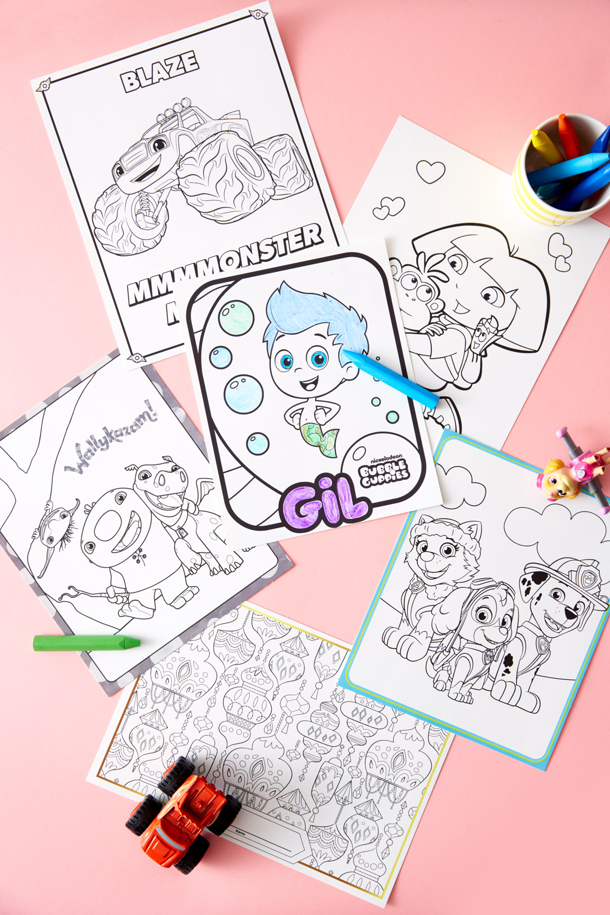 Nick Jr. Birthday Party Coloring Printables