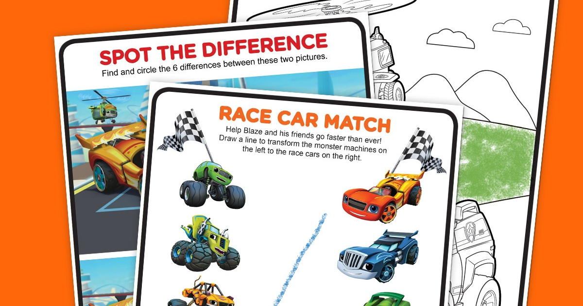 The Fast and the Furriest Activity Pack Nickelodeon Parents