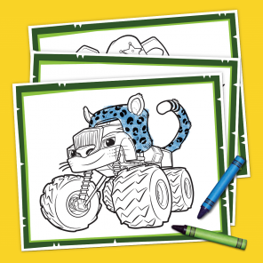 Blaze Wild Wheels Coloring Pack