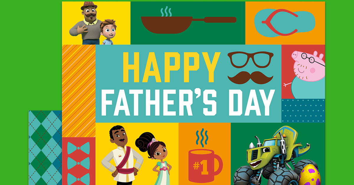 Nick Jr. Printable Father\'s Day Card   Nickelodeon Parents