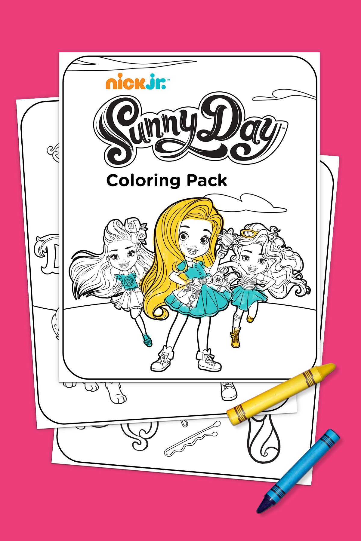 Sunny Day Coloring Pack Preschool Printables