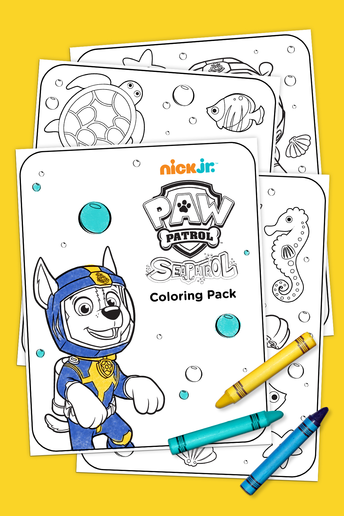 sea patrol coloring pack