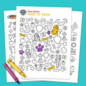 Hide 'N' Seek Printable