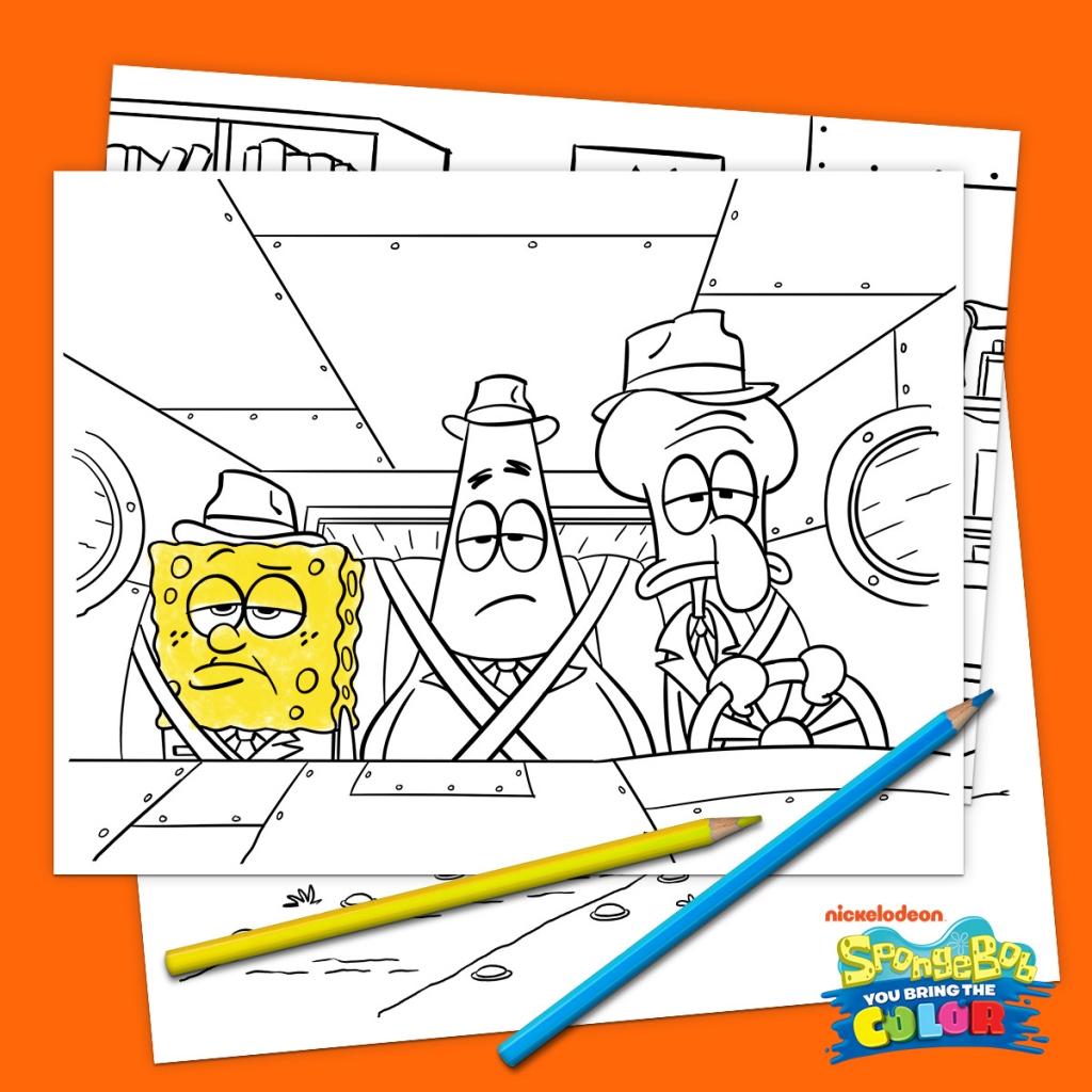 SpongeBob You Bring the Color Printables