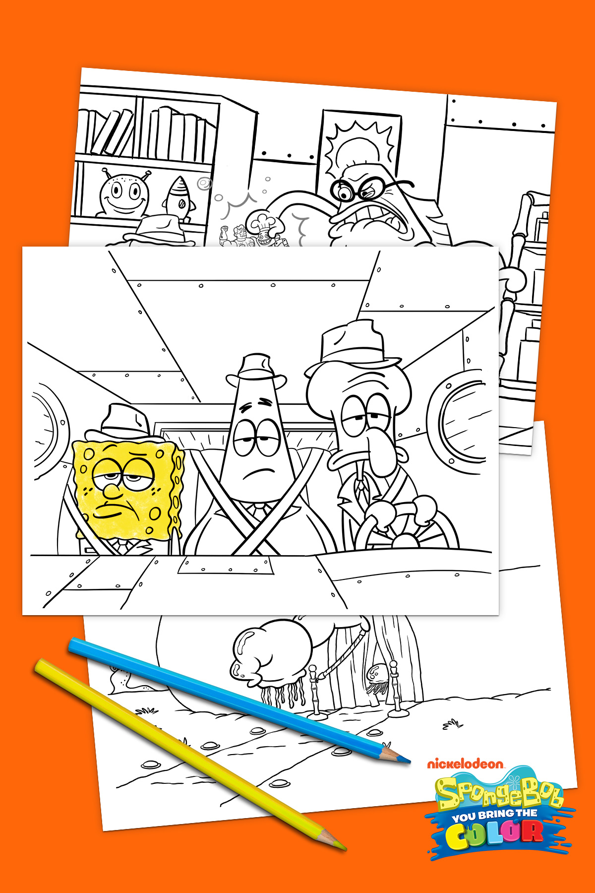SaveSave To Pinterest SpongeBob You Bring The Color Printables