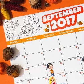 Nick Jr. September Premieres Calendar