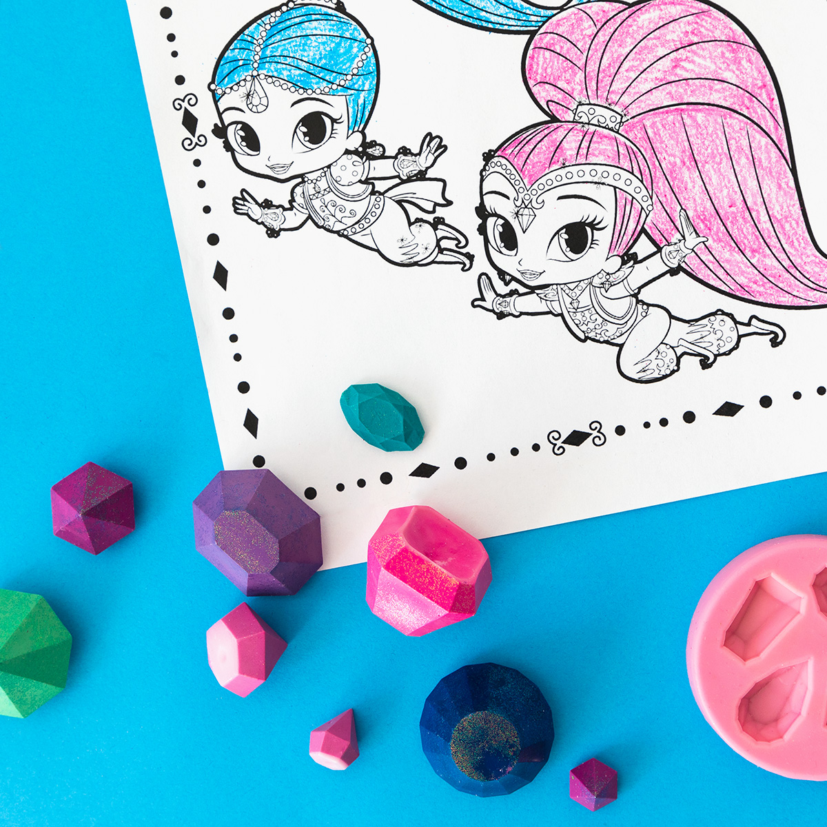 Shimmer and Shine Genie Gem Crayons