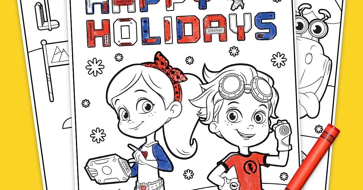 Rusty Rivets Holiday Coloring Pack