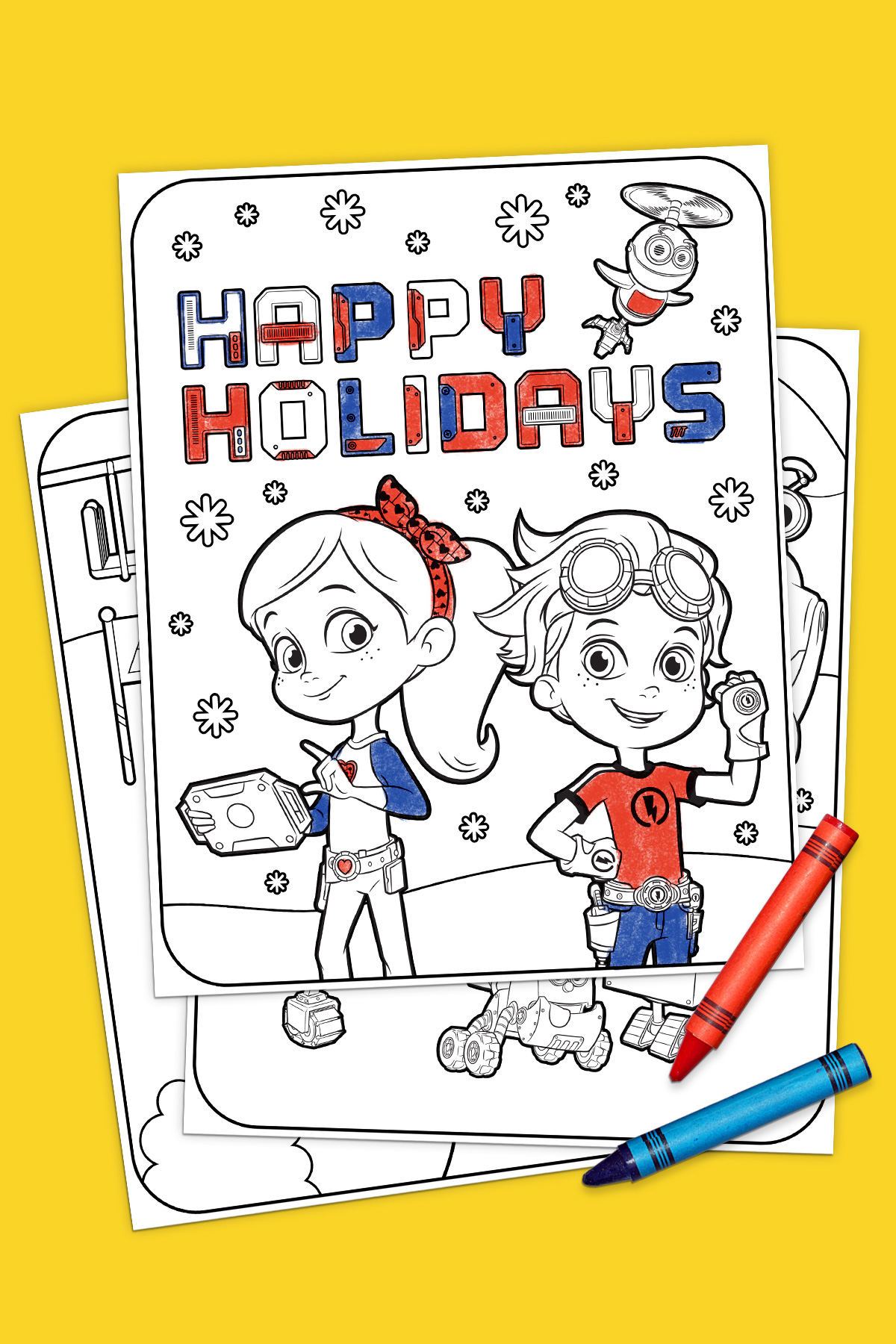 rusty rivets coloring pages - rusty rivets holiday coloring pack nickelodeon parents