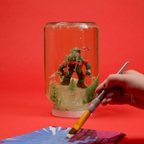 TMNT Snow Globe Craft
