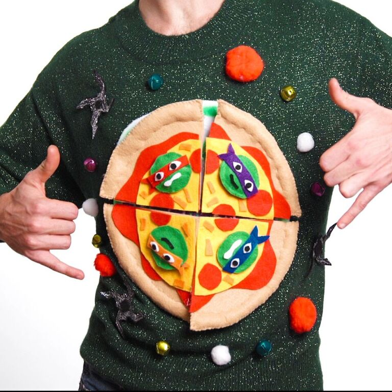 TMNT DIY Ugly Sweater