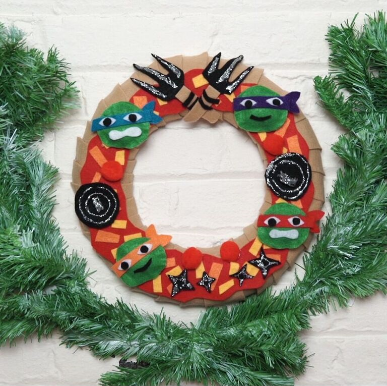 TMNT Holiday Pizza Wreath