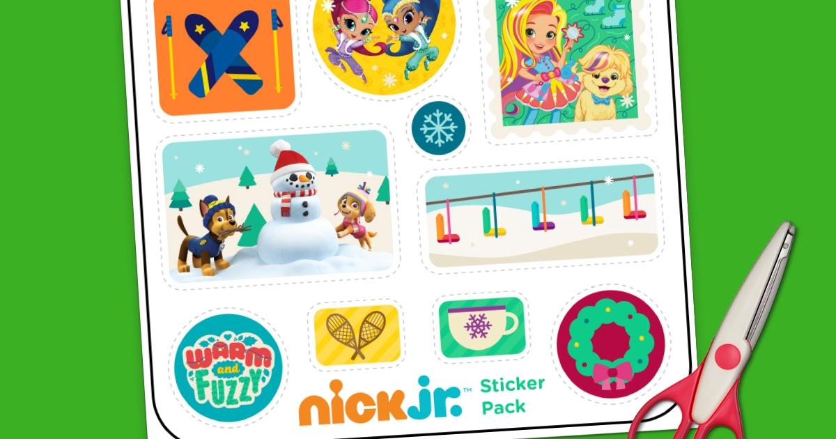 Nick Jr Winter Sticker Pack