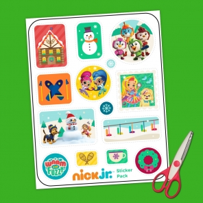 Nick Jr. Winter Sticker Pack