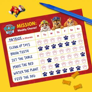 PAW Patrol Chore Chart