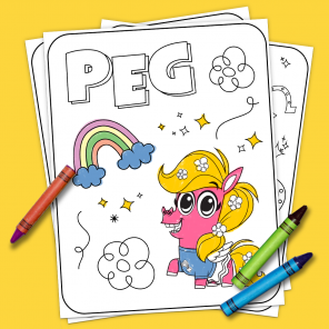 Corn and Peg Coloring Pages