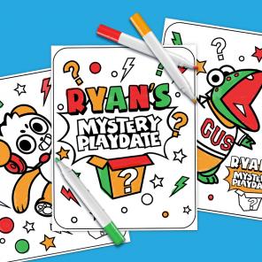 Ryan's Mystery Playdate 3 Marker Challenge