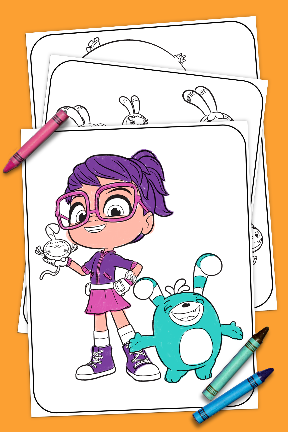 Abby Hatcher Coloring Pages Nickelodeon Parents