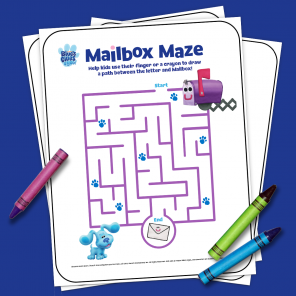 Blue's Clues & You Printable Maze