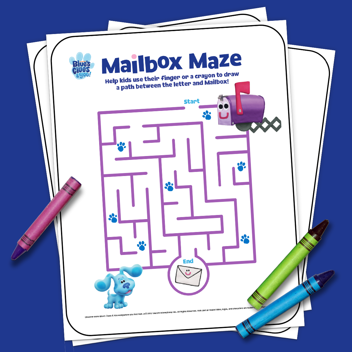 Blue's Clues Mailbox activity book