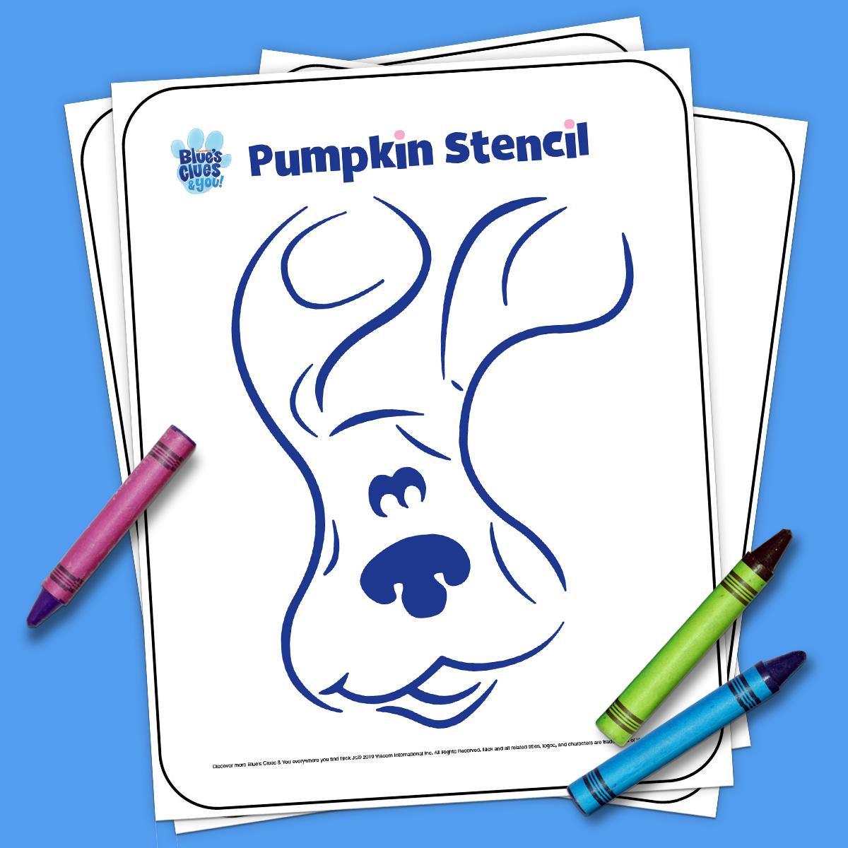 Blue pumpkin stencil