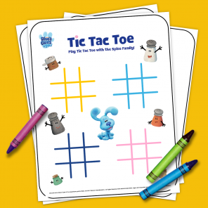 Blue's Clues & You! Printable Tic Tac Toe