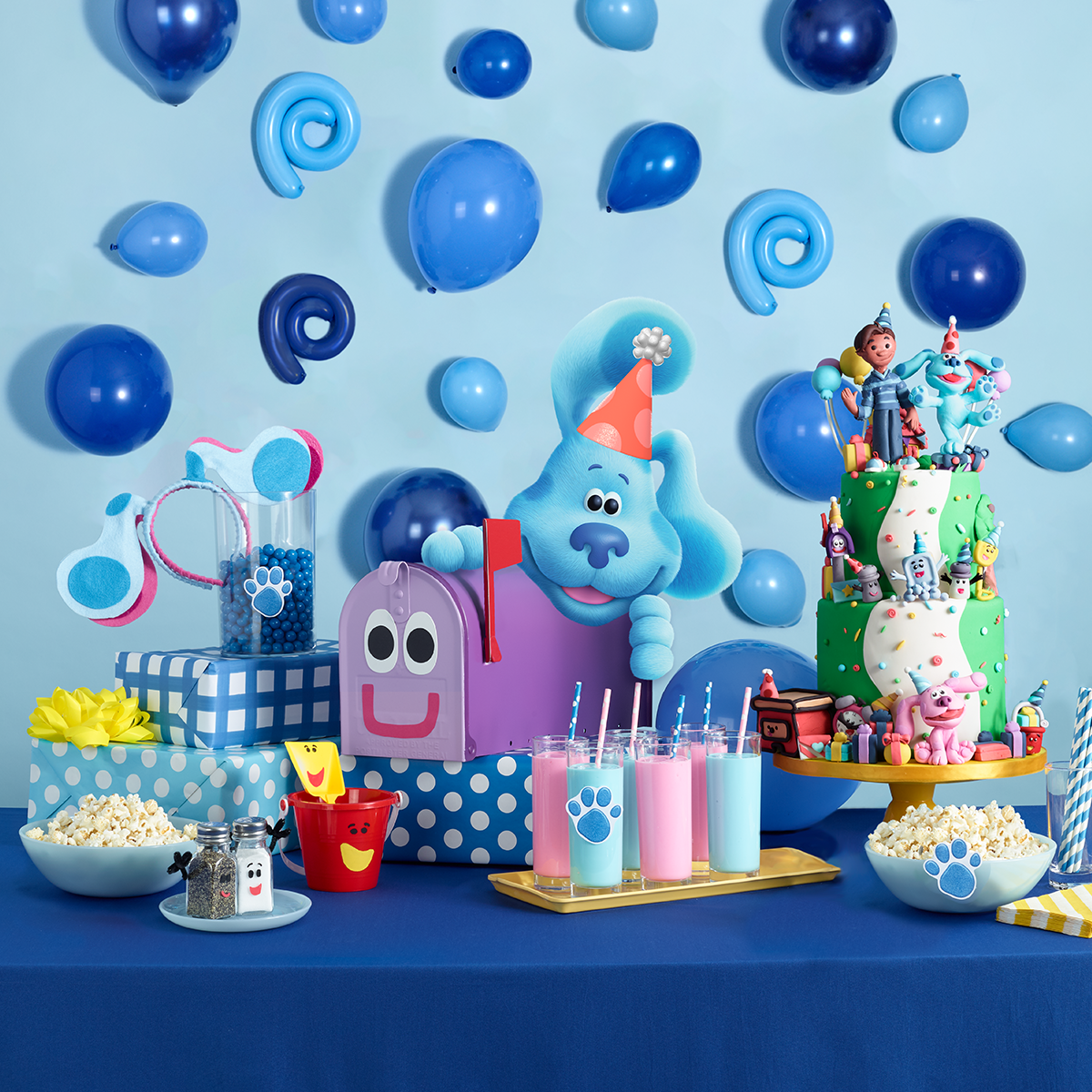 Blue's Clues & You! Party Tablescape