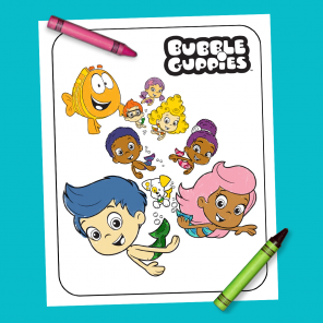 Bubble Guppies Coloring Sheet