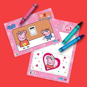 Peppa Valentine's Day Coloring Pages