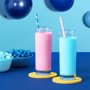 "Blue & Magenta ""Nice Cream"" Smoothies"