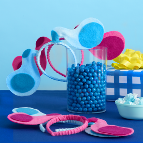 Make Your Own Blue & Magenta Wearable Ears