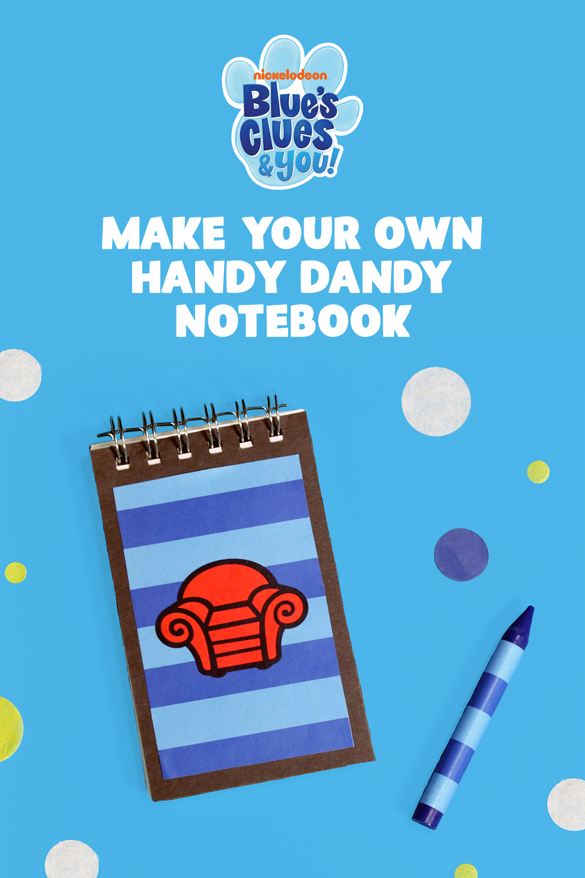 Blue's Clues DIY Handy Dandy Notebook Craft