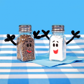 DIY Mr. Salt & Mrs. Pepper Shakers