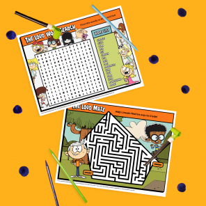 Loud House Printable Activity Placemats